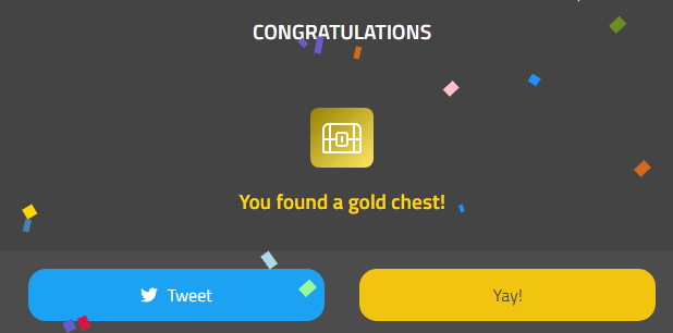 マイクリの金箱ドロップ画面